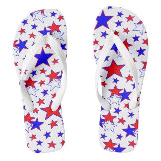 Chinelos Estrelas patrióticas