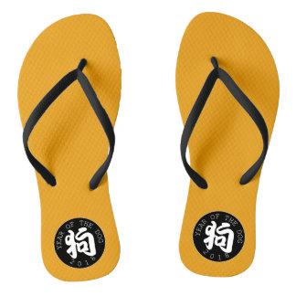 Chinelos Flip-flop chinês do círculo M O do preto do