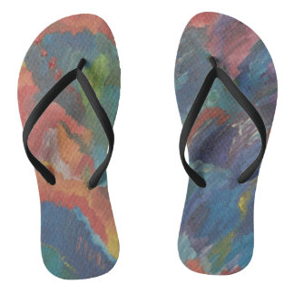 Chinelos flip-flops abstratos