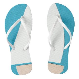 Chinelos Flip-flops azuis e brancos