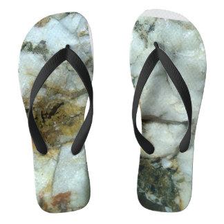 Chinelos flip-flops brancos de quartzo
