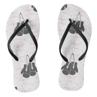 Chinelos Flip-flops da tinta de KO