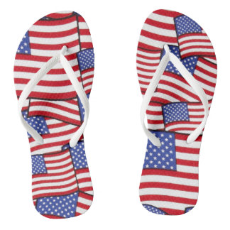Chinelos Flip-flops de bandeira americana patrióticos