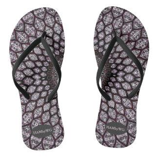 Chinelos Flip-flops de HAMbyWG - cereja da tinta de India
