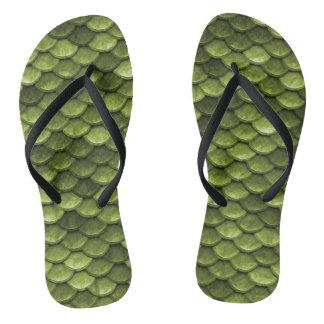 Chinelos Flip-flops do impressão das escalas da cauda da