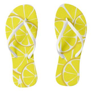 Chinelos Flip-flops do limão do citrino do verão