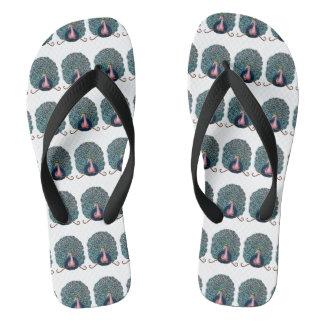 Chinelos Flip-flops do pavão