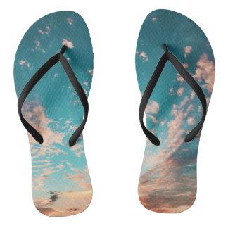 Chinelos Flip-flops do por do sol