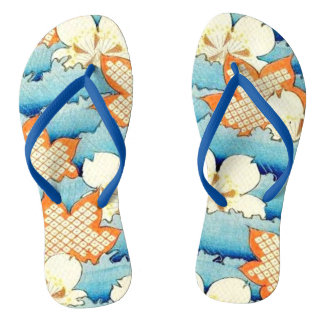 Chinelos Flip-flops orientais do design do vintage