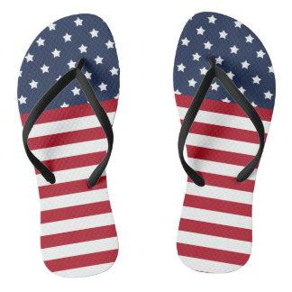 Chinelos Flip-flops patrióticos