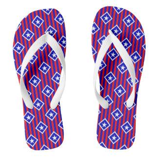 Chinelos Flip-flops patrióticos das listras das estrelas