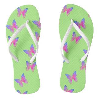 Chinelos Flip-flops (verdes) da Vibração-Byes