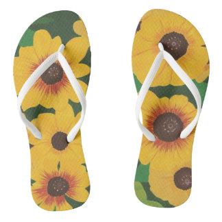 Chinelos Flip-flops verdes pintados corajosos grandes dos