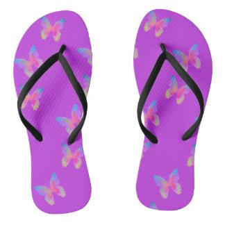 Chinelos Flip-flops (violetas) da Vibração-Byes