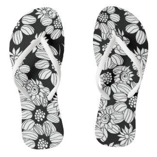 Chinelos florais