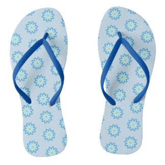 Chinelos Flores de Lotus azul abstratas que pintam
