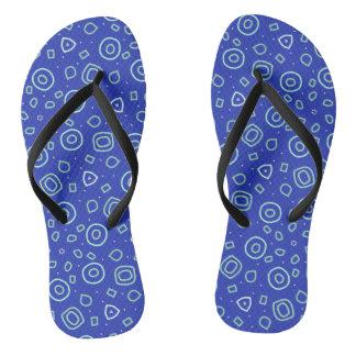 Chinelos Formas do Beachcomber no azul