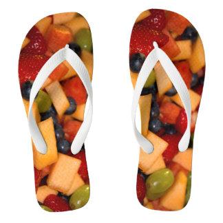 Chinelos Foto da salada de fruta