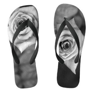 Chinelos Fotografia da flor do rosa do Monochrome em