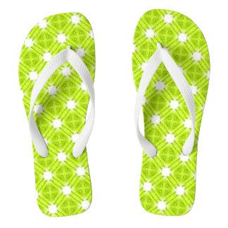 Chinelos Geométrico verde e branco do quivi