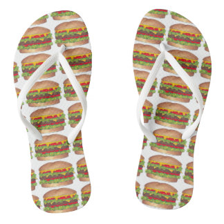 Chinelos Hamburguer Foodie do fast food do cheeseburger do