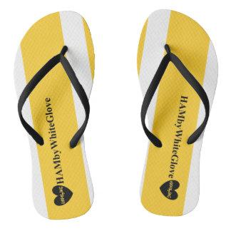 Chinelos HAMbWG - flip-flop - preto branco amarelo