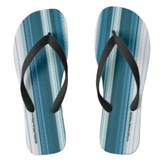 Chinelos HAMbyWG - cerceta & branco dos flip-flops dos