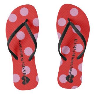 Chinelos HAMbyWG - flip-flops - Lilac/bolinhas vermelhas