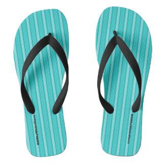 Chinelos HAMbyWG - flip-flops - listras do Aqua