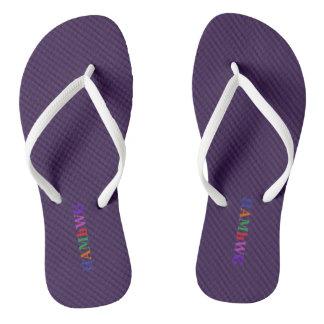 Chinelos HAMbyWG - flip-flops - logotipo brilhante roxo de