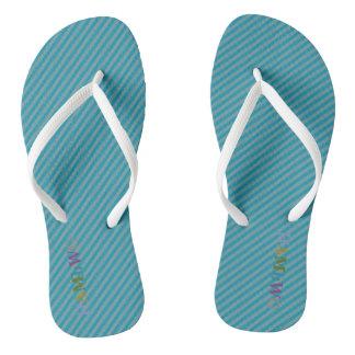 Chinelos HAMbyWG - flip-flops - multi logotipo azul de w