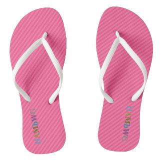 Chinelos HAMbyWG - flip-flops - multi logotipo cor-de-rosa