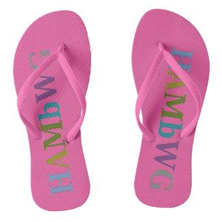 Chinelos HAMbyWG - flip-flops - rosa/logotipo cor-de-rosa