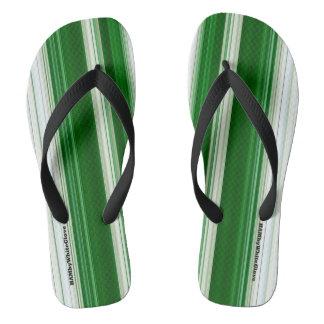 Chinelos HAMbyWG - flip-flops verde & branco dos homens