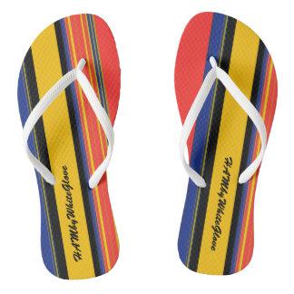 Chinelos HAMbyWG - listras misturadas dos flip-flops