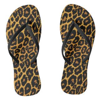 Chinelos Impressão do leopardo com ouro do inclinação