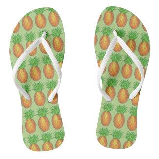 Chinelos Impressão tropical da fruta da ilha dos abacaxis