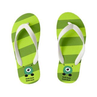 Chinelos Infantis Alienígena verde engraçada bonito