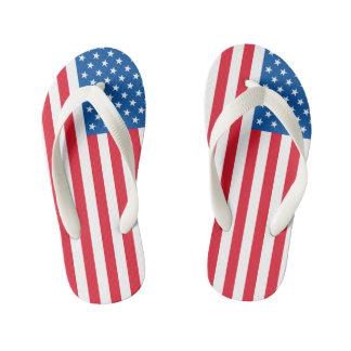 Chinelos Infantis Bandeira dos Estados Unidos da bandeira dos EUA