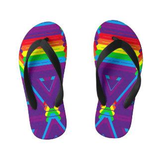 Chinelos Infantis Cores do design original do arco-íris