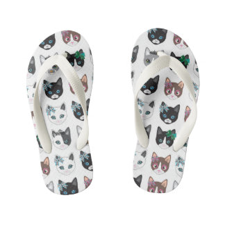 Chinelos Infantis design do gatinho do gato pelo miart