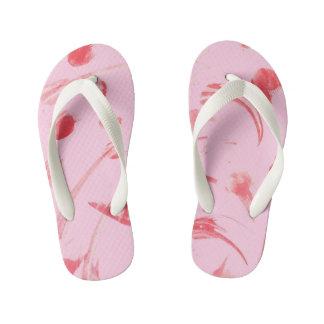 Chinelos Infantis Falhanço de sacudir abstrato cor-de-rosa
