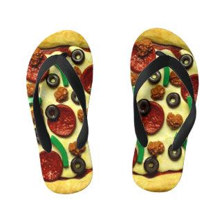 Chinelos Infantis Festa de aniversário da pizza dos miúdos