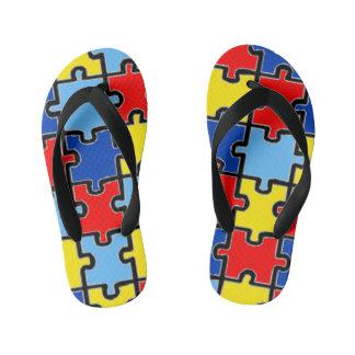 Chinelos Infantis Flip-flops da consciência do autismo
