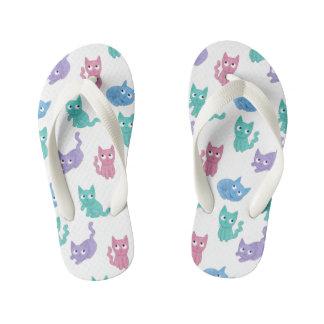 Chinelos Infantis Flip-flops do gato