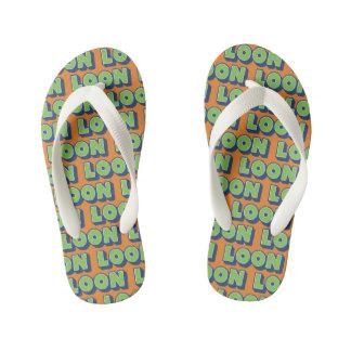 Chinelos Infantis Flip-flops escoceses Doric do dialecto do