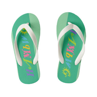 Chinelos Infantis HAMbyWG - chinelos, miúdos, criança - logotipo de