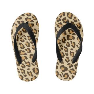Chinelos Infantis Impressão do leopardo