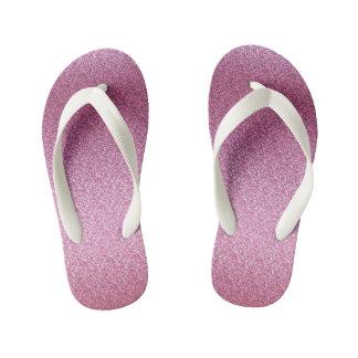 Chinelos Infantis Inclinação Glittery cor-de-rosa