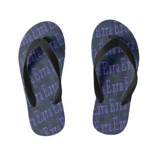 Chinelos Infantis Mosaico conhecido do azul dos logotipos de Ezra